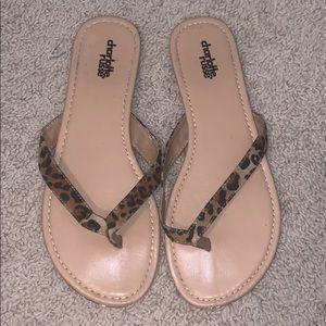 Charlotte Russe Cheetah Print  Sandals/Flip Flops